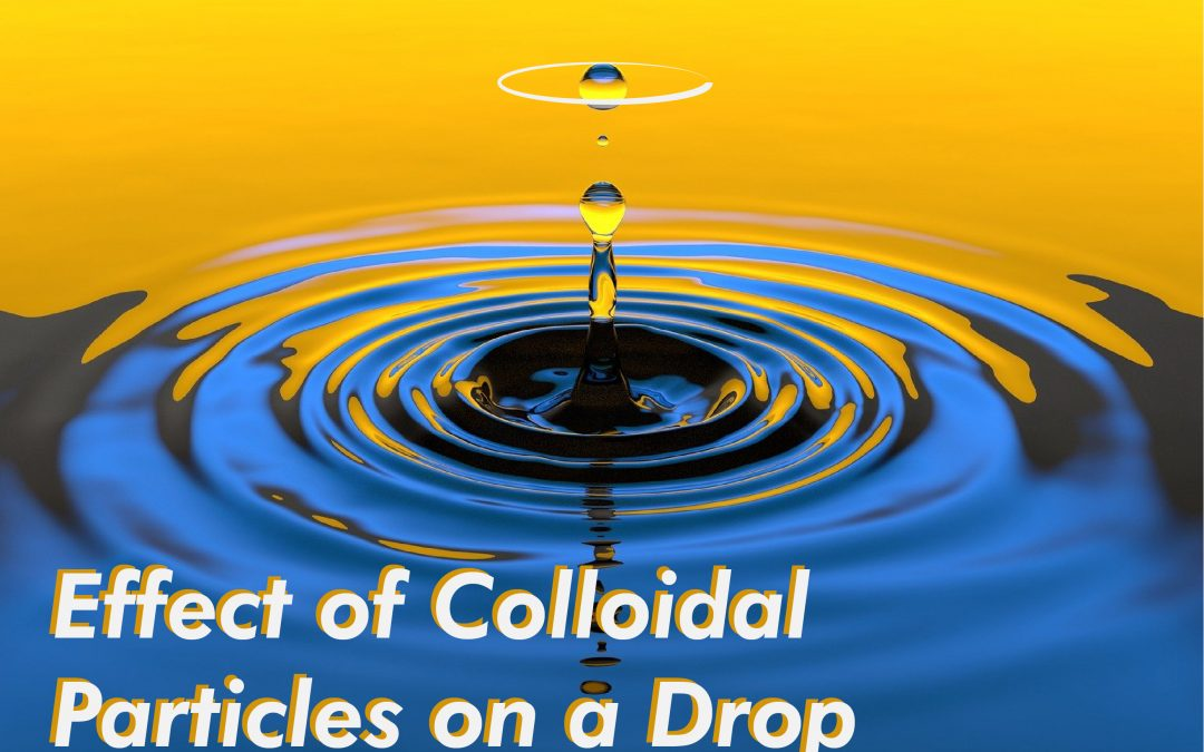 Effect of Colloidal Particles on a Drop